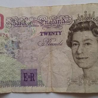 20 фунтов  Великобритания  Англия