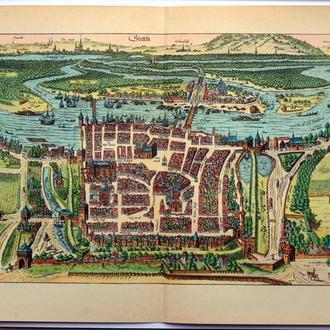 План карта города Щецин 1570 г. копия 1938 года Лейпциг Fv8.9