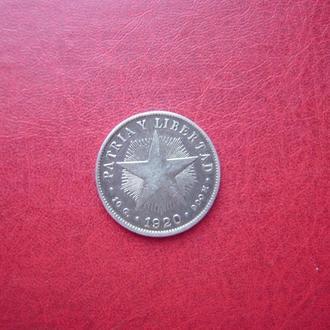 Куба 40 сентаво 1920 Редкая 2