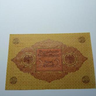 2 марки 1920, Германия, бездоганний Пресс, unc, оригинал