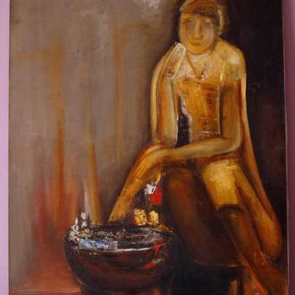 """Большая, шикарная картина """"Одиночество"""", 1981г."""