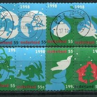 Набор гашеных марок Рождество Нидерланды