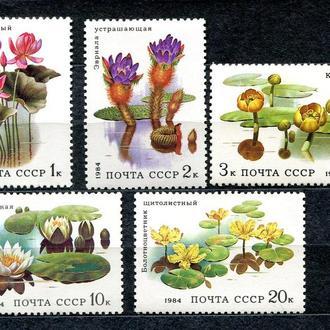 СССР. 1984 год. Водные растения. Серия. MNH