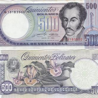 Venezuela Венесуэла  500 Bolivares 31. 05. 90  P. 67d  UNC- Javir