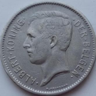 Бельгия 5 франков 1930 год