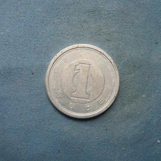 Япония 1 иена 1995 год