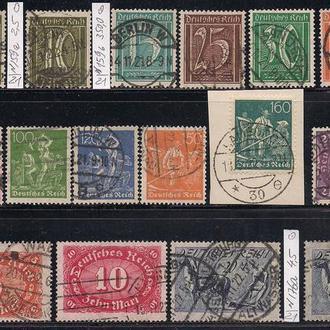 Рейх, 1921 г., распродажа, 15% каталога, стандартный выпуск