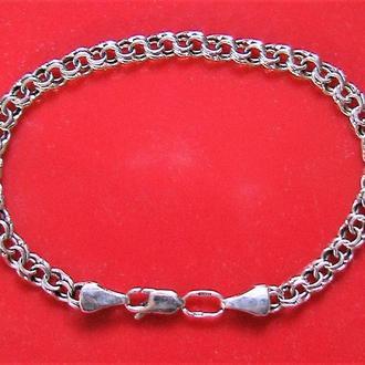 Браслет цепочка серебро 925 проба 5,40 гр длина 19 см