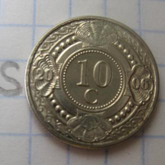 НИДЕРЛАНДСКИЕ АНТИЛЬСКИЕ ОСТРОВА, 10 центов 2006 года.