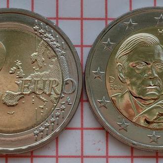 Германия 2 евро, 2018 100 лет со дня рождения Гельмута Шмидта