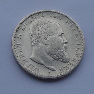 1904 г - 2 марки Германия,Вюртемберг,серебро