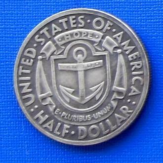 пол доллара США 1936 год Rhode Island