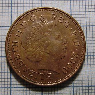 Великобритания, 2 пенса 2000 г. Елизавета II.