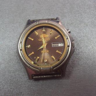 часы наручные мужские Ориент Япония Orient crystal 21 камней с прозрачной крышкой не на ходу №3123