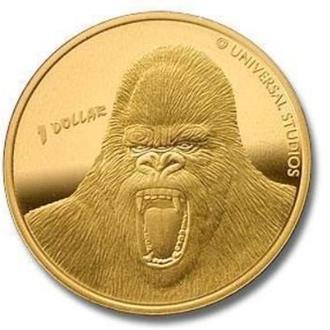 1 доллар Новая Зеландия 2005 (Кинг Конг)