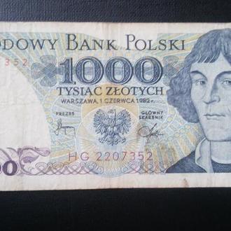 ПОЛЬША  1000 злотых 1982 год