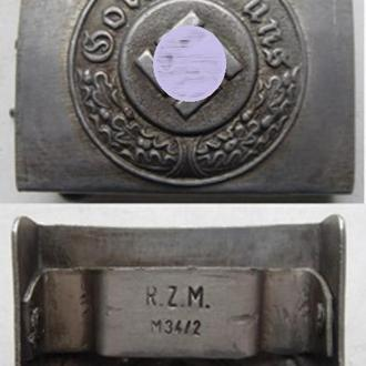 Ременная пряжка ПОЛИЦИИ. Третий Рейх. алюминий (копия)