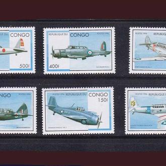 Авиая . Конго 1996 г MNH - самолеты