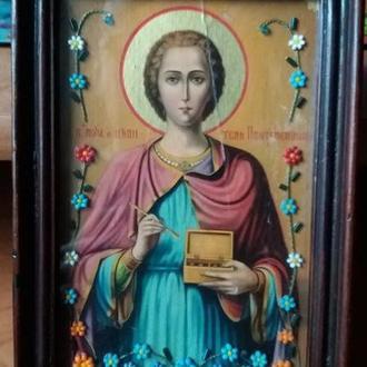 Икона великом Пантелемона Целителя 13см на 19см