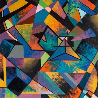 #11 80*100sm Геометрия Яркая Интерьерная Картина Абстракция Кубизм Современное Искусство