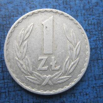 Монета 1 злотый Польша 1973