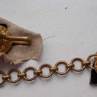 Застежка пряжка замок металл под золото тяжелая, старинная