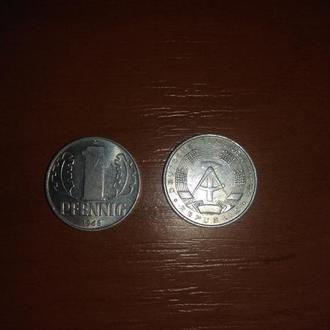 1 пфенниг 1968 года монета ГДР