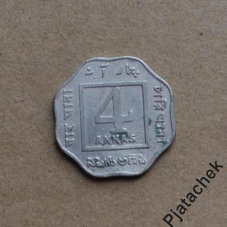 Британская Индия 4 анна 1920 г  №2