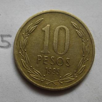 ЧИЛИ 10 песо 1995 года.