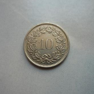 Швейцария 10 раппенов 1970