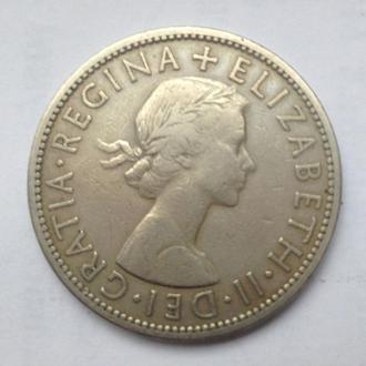 Великобритания 1/2 кроны 1955 год
