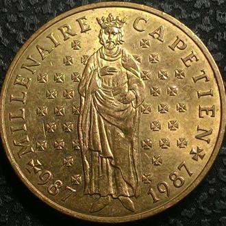 Франция 10 франков 1987 год Гуго Капет