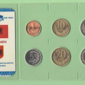 Набор монет АЛБАНИЯ запайка набір АЛБАНІЯ пластик из серии DAS GELD DER WELT