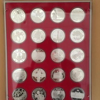 Коллекция серебряных монет Украины с 07.03.1996 г. по 31.12.2012 г. Всего 211 монет.