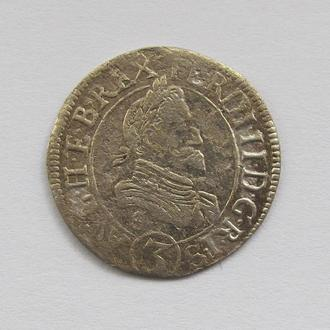3 крейцера 1625 г. Фердинанд II, Австрия, Каринтия , г Сент-Вейт