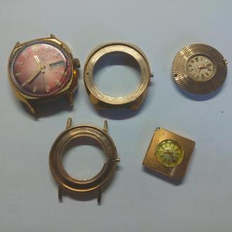 Часы + корпуса позолочены AU-5