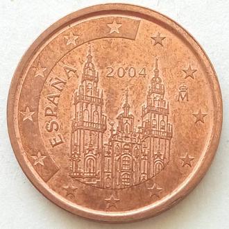 (А) Испания 2 евроцента евро цента 2004
