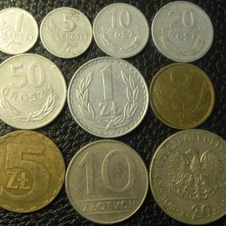 Набор монет социалистической Польши