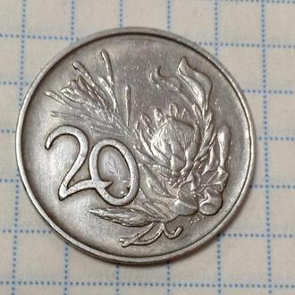 ЮАР, 20 центов 1988