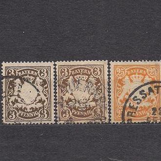 Бавария, немецкие земли, 1890 г., стандартный выпуск