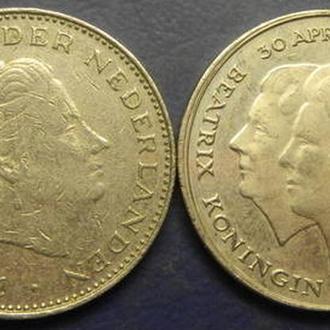 2 1/2 гульдена Нідерланди 1980 (два різновиди)