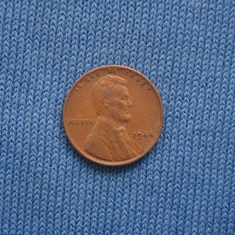 США  пшеничный 1 цент  1944 г