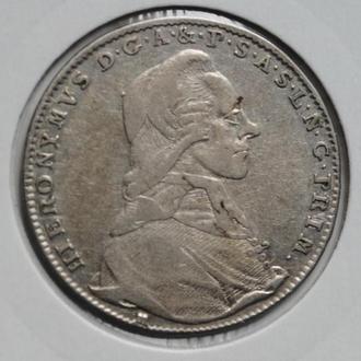 Зальцбург 20 крейцеров 1792 г., 'Князь-архиепископ Иероним фон Колоредо (1772–1803)'