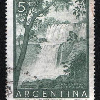 Аргентина (1954) Виды страны. Водопады Игуасу