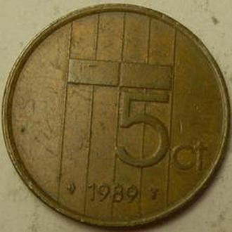 5 центів 1989 Нідерланди
