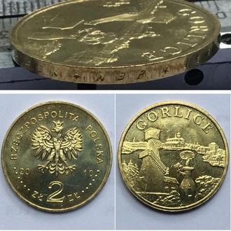 Польша 2 злотых, 2010г.  Города Польши - Горлице / Вид чекана Юбилейные монеты