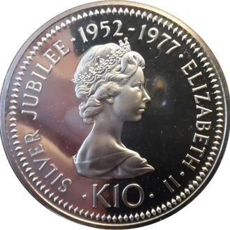 ПАПУА-НОВАЯ ГВИНЕЯ 10 КИНА 1977 СЕРЕБРО ПРУФ