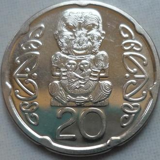 Новая Зеландия 20 центов 2006 состояние