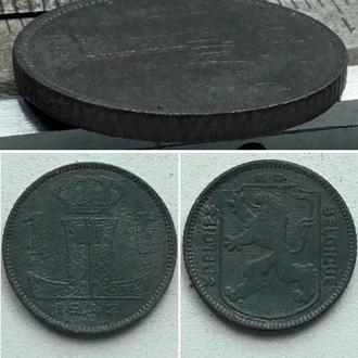Бельгия 1 франк, 1942 г. Надпись - 'BELGIE - BELGIQUE' / Период Король Леопольд III (1934 - 1947)
