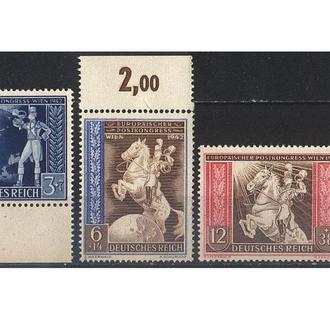 1942 - Рейх - Почтовый конгресс Mi.820-822_ поля **